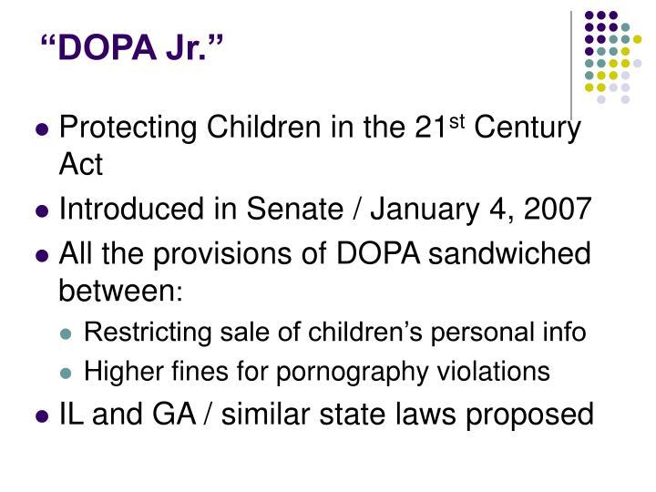 """DOPA Jr."""
