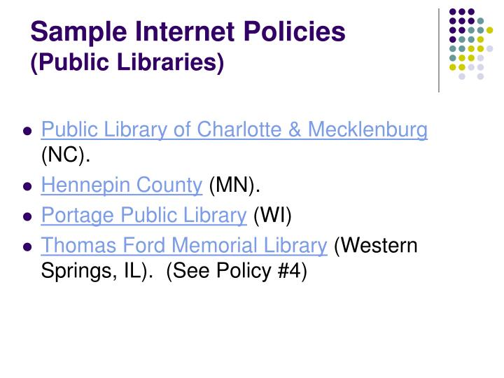 Sample Internet Policies