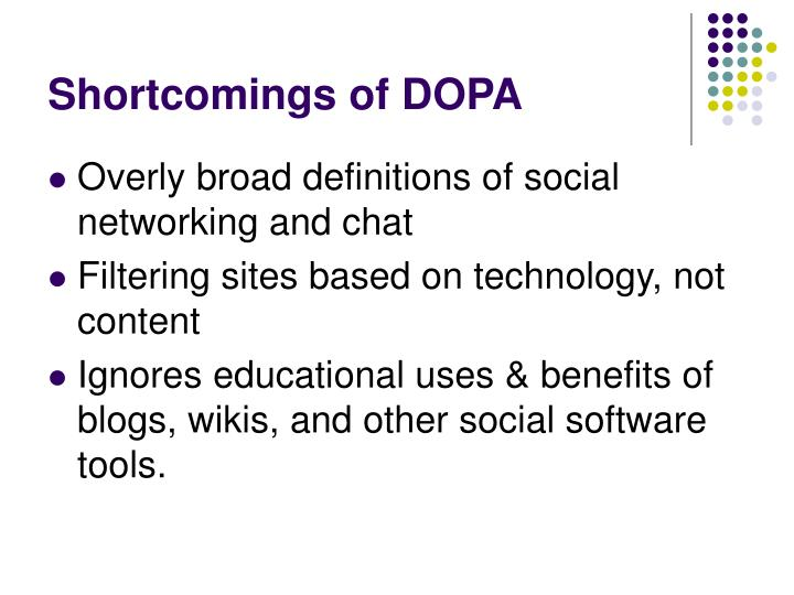 Shortcomings of DOPA