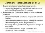 coronary heart disease 1 of 2