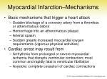 myocardial infarction mechanisms