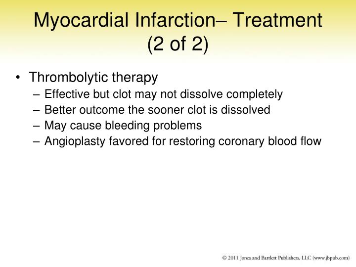 Myocardial Infarction– Treatment (2 of 2)