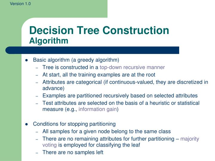 Decision Tree Construction