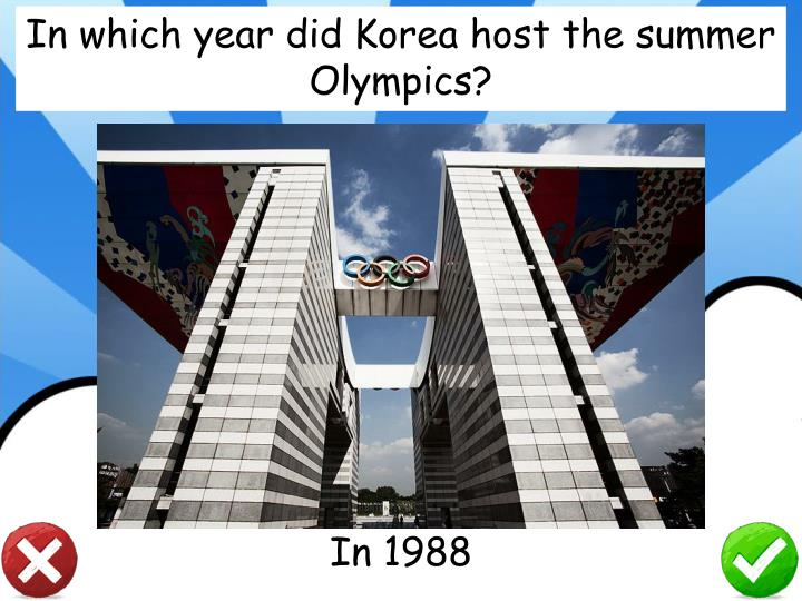 In which year did Korea host the summer Olympics?