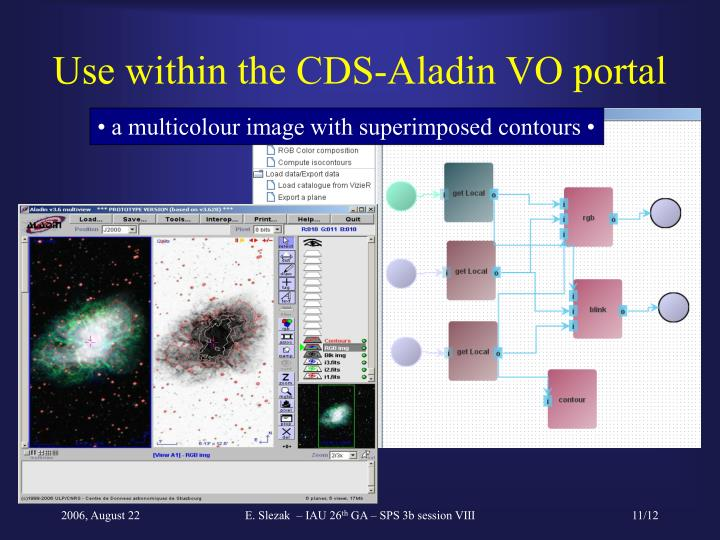 Use within the CDS-Aladin VO portal
