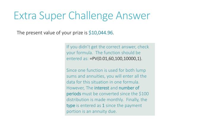 Extra Super Challenge Answer