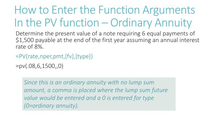 How to Enter the Function Arguments