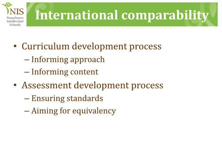 International comparability