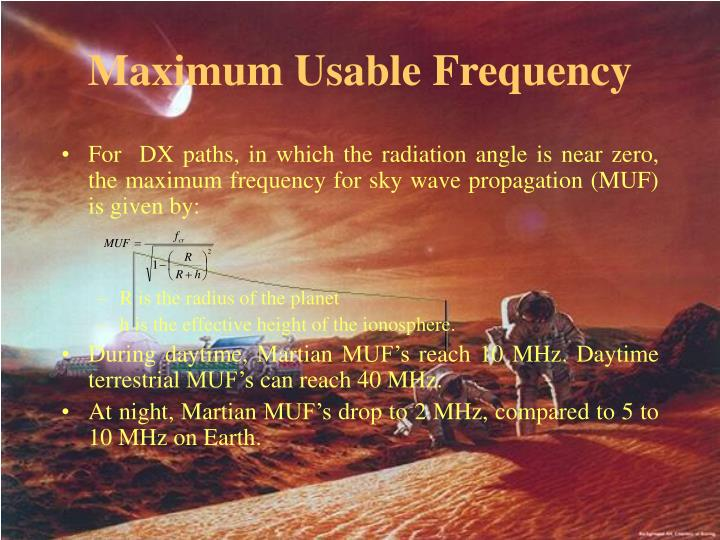 Maximum Usable Frequency