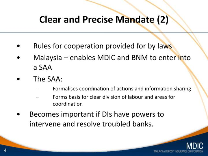 Clear and Precise Mandate (2)