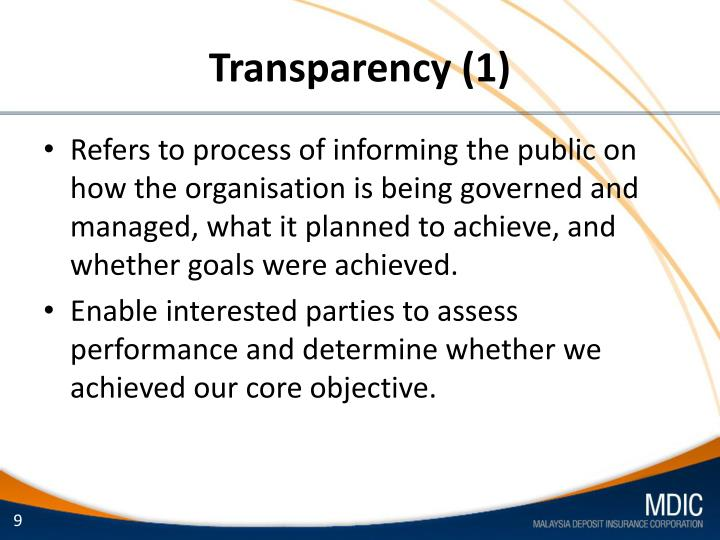 Transparency (1)