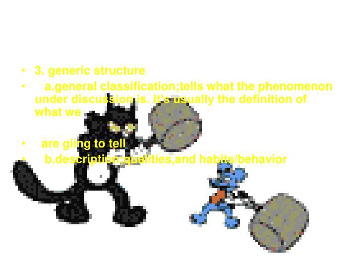 3. generic structure