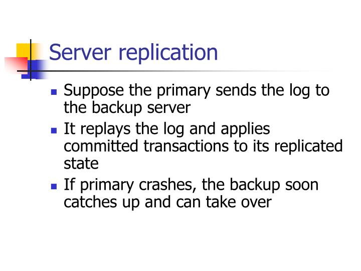 Server replication