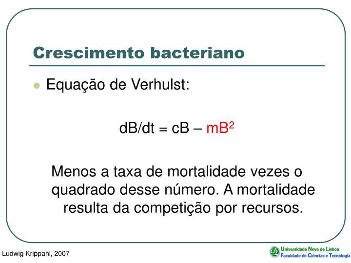 Crescimento bacteriano