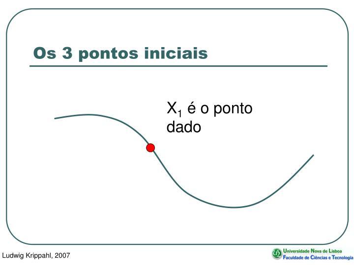 Os 3 pontos iniciais