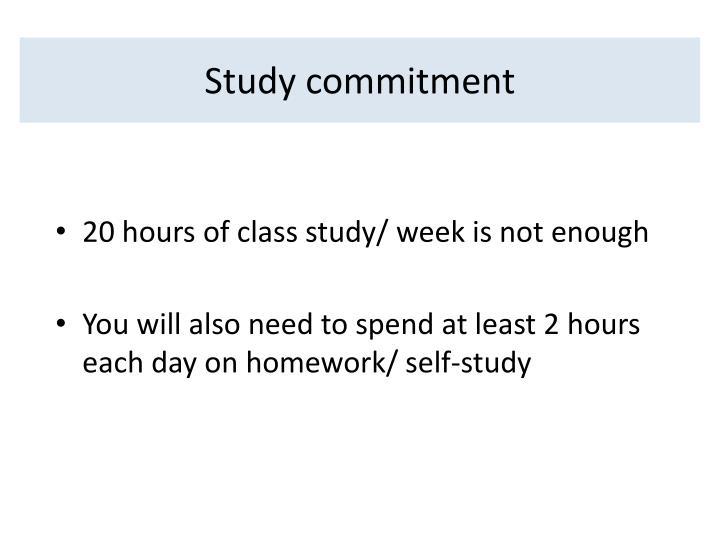 Study commitment