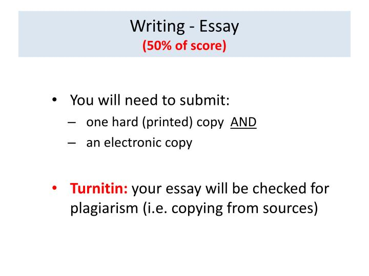 Writing - Essay