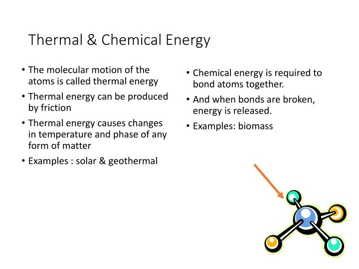 Thermal & Chemical Energy