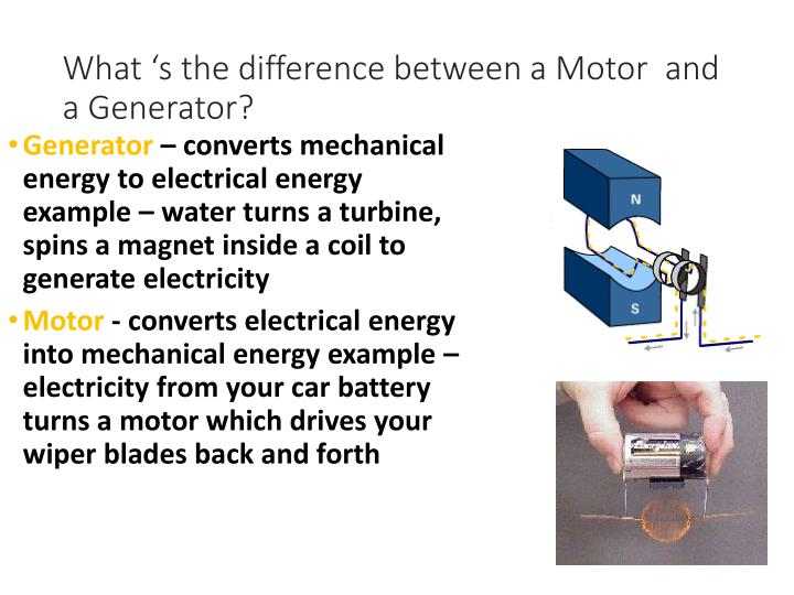 What 's the difference between a Motor  and a Generator?