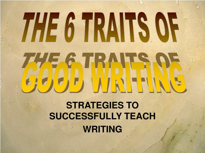 Strategies to successfully teach writing