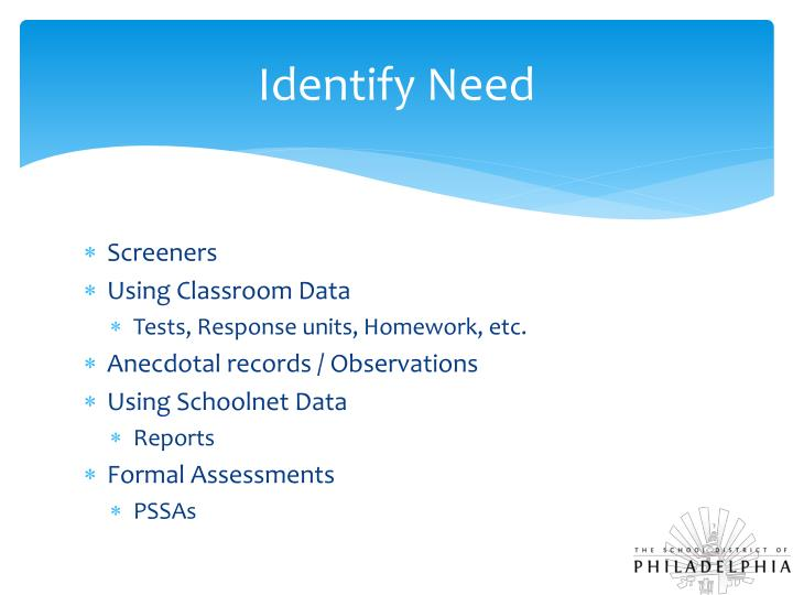 Identify Need