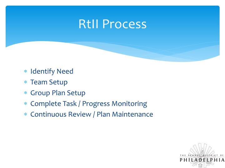 RtII Process