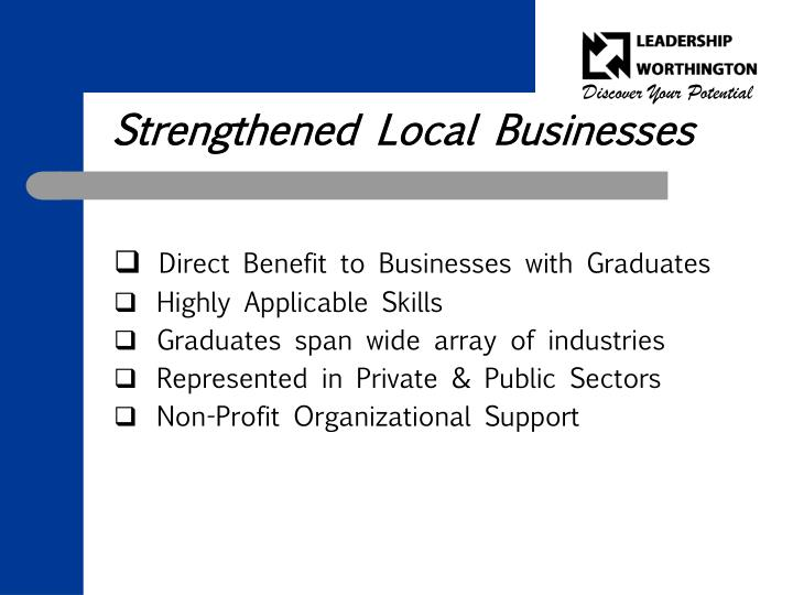 Strengthened Local Businesses