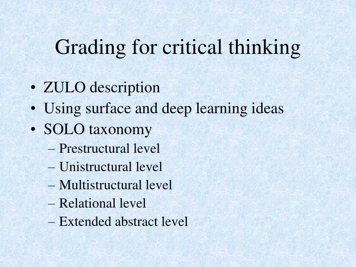 Grading for critical thinking