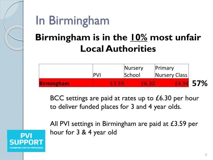 In Birmingham