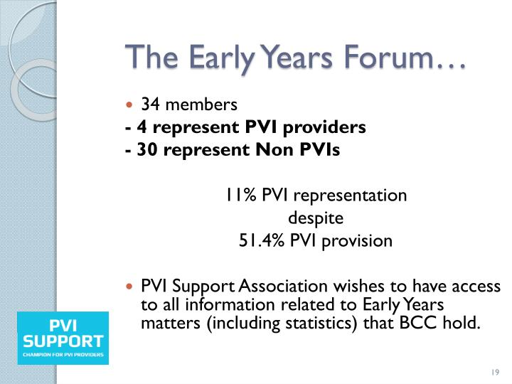 The Early Years Forum…