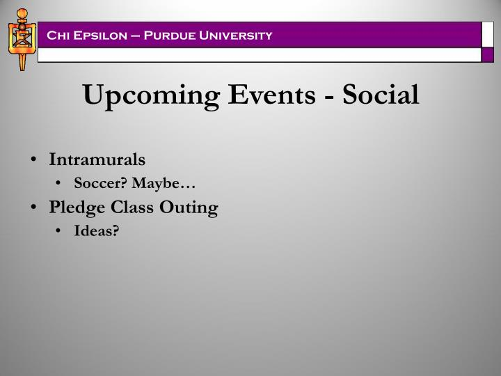 Upcoming Events - Social