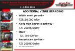 additional venue branding