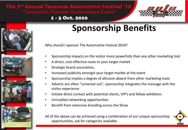 Sponsorship Benefits