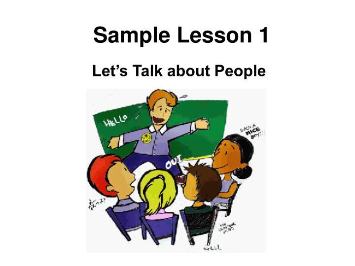 Sample Lesson 1