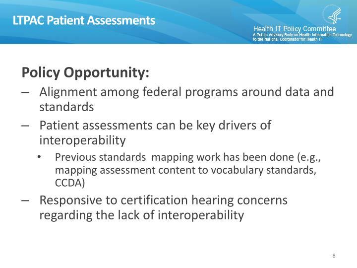 LTPAC Patient Assessments