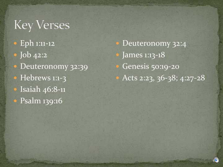 Key Verses