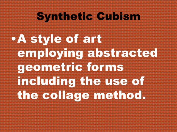 Synthetic Cubism