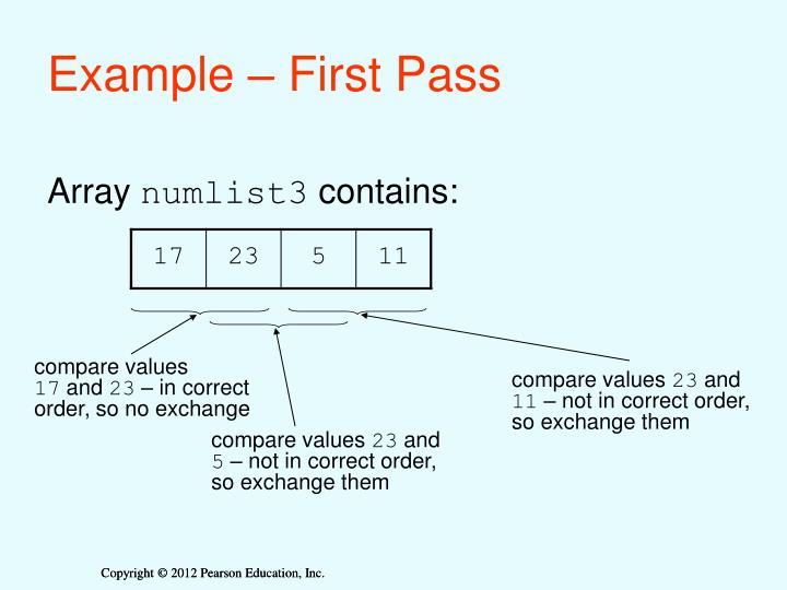 Example – First Pass