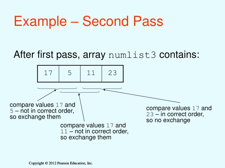 Example – Second Pass
