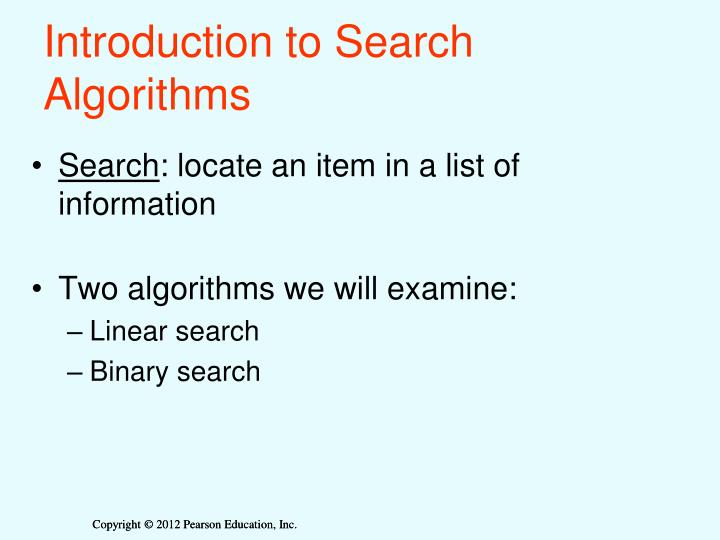 Introduction to search algorithms