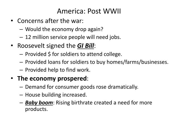 America: Post WWII
