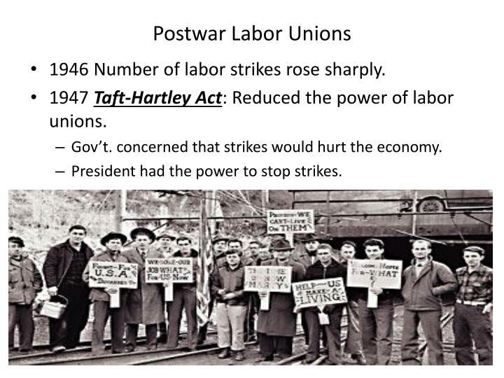 Postwar Labor Unions