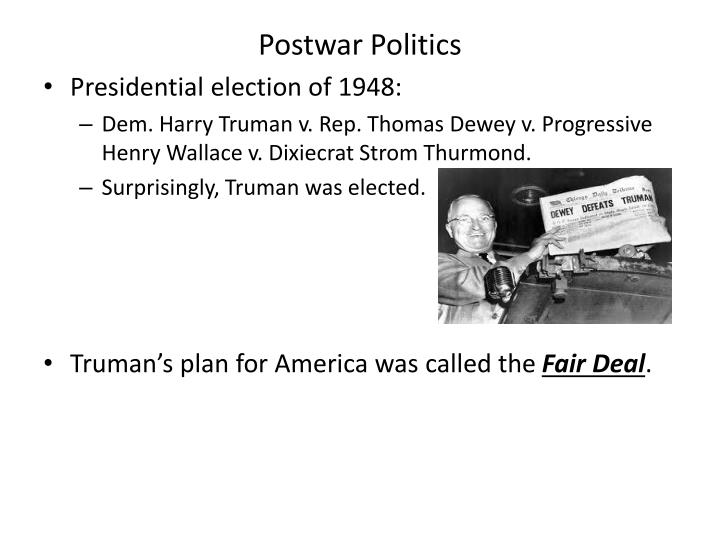 Postwar Politics