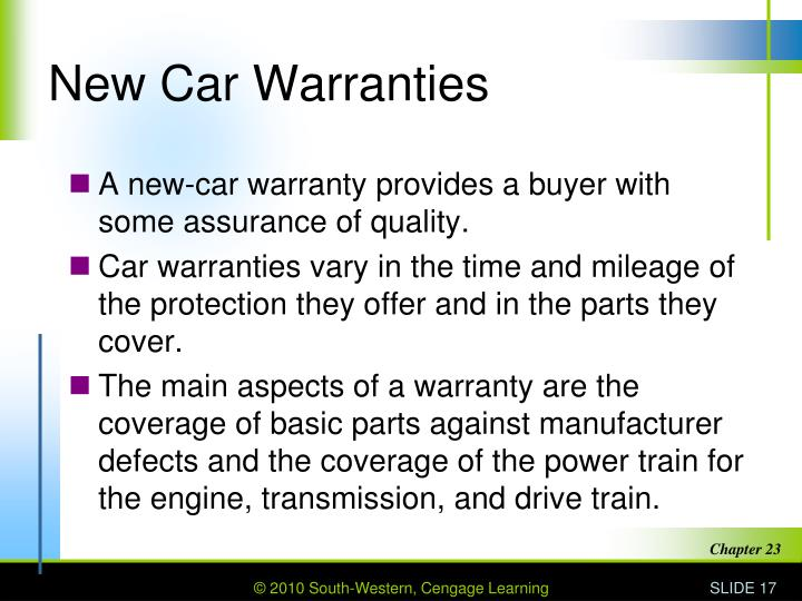 New Car Warranties