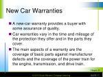 new car warranties