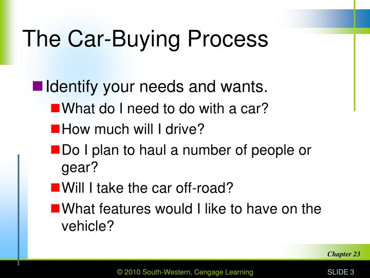 The car buying process