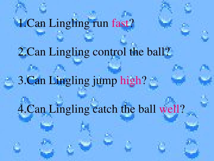 1.Can Lingling run