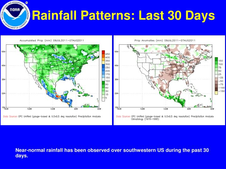 Rainfall Patterns: Last 30 Days