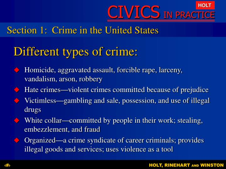Section 1:Crime in the United States