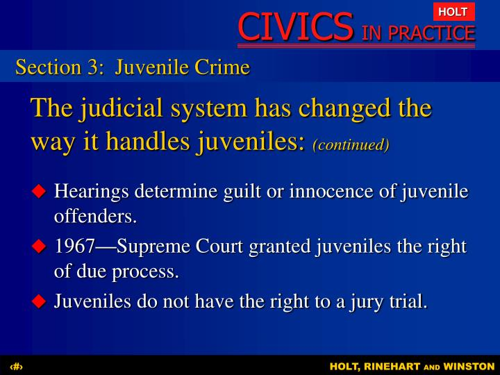 Section 3:Juvenile Crime